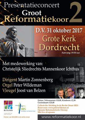 Reformatiekoor 2, premiere 500 jaar reformatie in Dordrecht