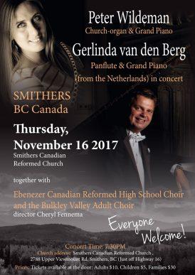 Peter Wildeman & Gerlinda van den Berg in concert Smithers BC