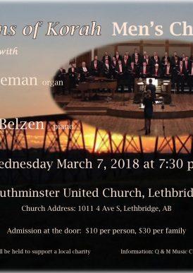 Sons of Korah men's choir in concert with Joost en Peter in concert