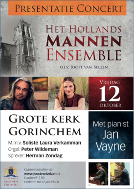 Het Hollands Mannenensemble Presentatieconcert