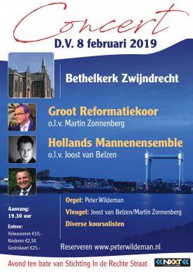 Voorjaarsconcert Groot Reformatiekoor en het Hollands Mannenensemble