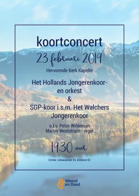 Zeeuws Koorconcert met Hollands Jongerenkoor- en orkest, SGP-koor en WJK