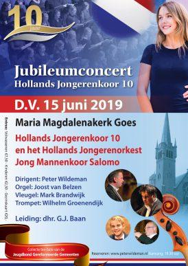 Jubileumconcert HJK 10, orkest en Jong Mannenkoor Salomo