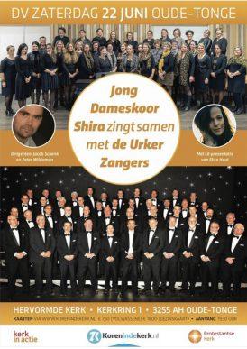 Jong Dameskoor Shira & Mannenkoor Urker Zangers in Concert.