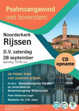 Psalmen zingen in de Noorderkerk van Rijssen...Op hogen toon, met psalmen prijzen...