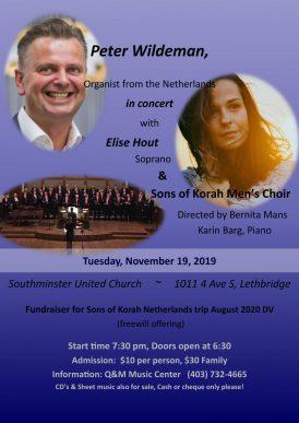 Concert Lethbrigde met Mens Choir Sons of Korah