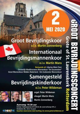 Groot Bevrijdingsconcert te Rotterdam