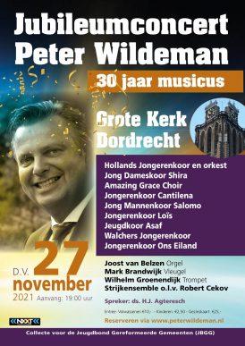 Jubileumconcert Peter Wildeman, 30 jaar musicus